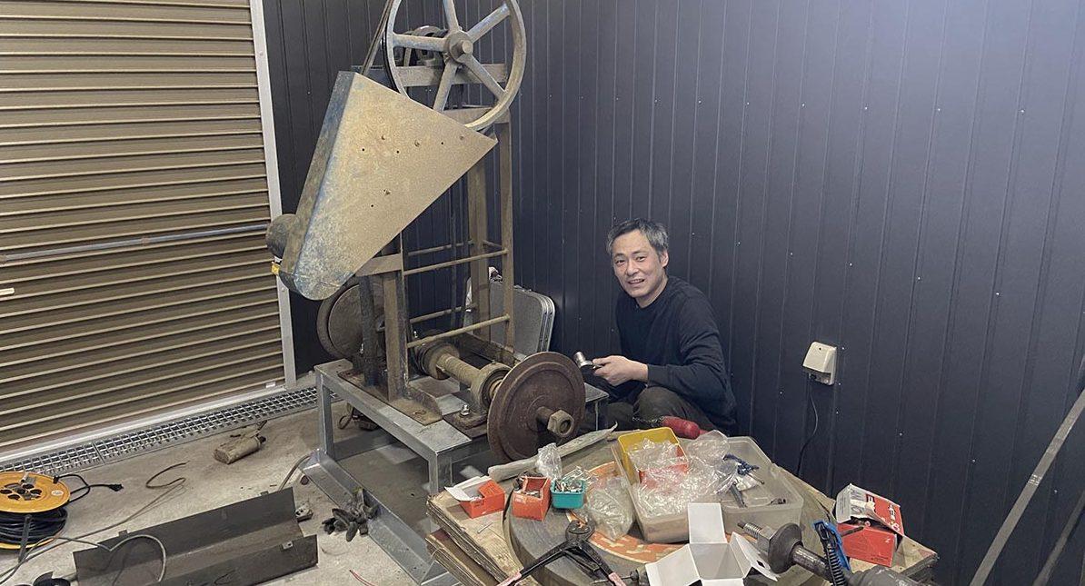 増田切出工場の新工場制作中